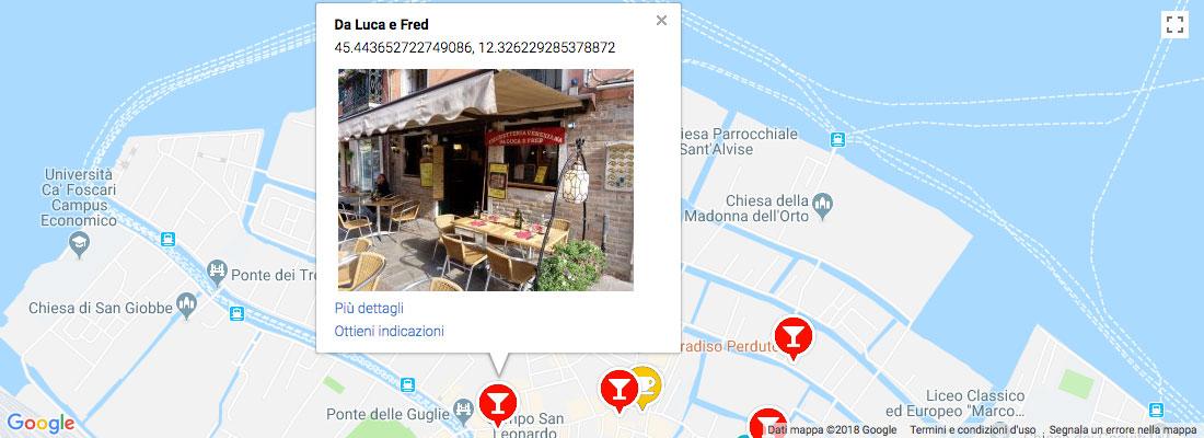 Preview mappa completa dei Bàcari del Bàcarotour Venezia